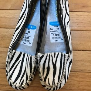 Me Too zebra print shoes new size 8
